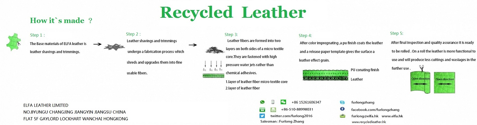 how is recycled leather made