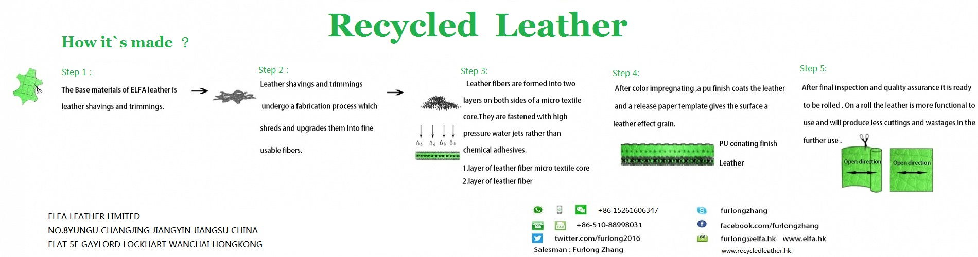 recycled leather--innovated material to improving the sustainability